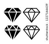 diamond vector icon... | Shutterstock .eps vector #1227166639