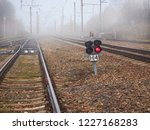 view on black railway traffic... | Shutterstock . vector #1227168283