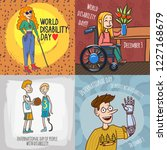 day persons disabilities banner ... | Shutterstock .eps vector #1227168679