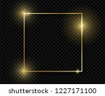 gold shiny glowing vintage... | Shutterstock .eps vector #1227171100