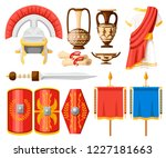 collection of ancient roman... | Shutterstock .eps vector #1227181663