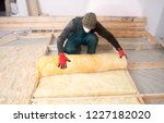 work composed of mineral wool... | Shutterstock . vector #1227182020
