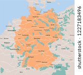 vector map germany. isolated...   Shutterstock .eps vector #1227183496