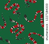 coral snakes seamless pattern.... | Shutterstock .eps vector #1227184333