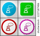 vector icons with 4 options....   Shutterstock .eps vector #1227187486