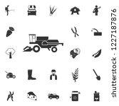 combine harvester icon. element ... | Shutterstock . vector #1227187876