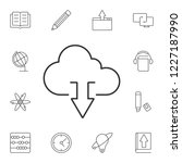 cloud download icon. simple...