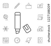 the marker icon. simple element ... | Shutterstock . vector #1227188209