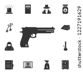 pistol icon. simple element...   Shutterstock . vector #1227191629