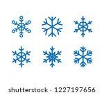 snowflake vector icon... | Shutterstock .eps vector #1227197656