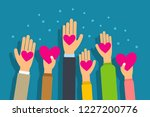 charity and donation concept.... | Shutterstock .eps vector #1227200776