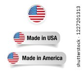 made in usa label set | Shutterstock .eps vector #1227201313