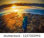 man with selfie stick by the... | Shutterstock . vector #1227202993