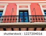 balcony with decorative metal... | Shutterstock . vector #1227204016