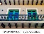 balcony with decorative metal... | Shutterstock . vector #1227206833