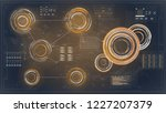 hud. infographic with hud for...   Shutterstock .eps vector #1227207379
