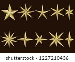 golden star isolated on white... | Shutterstock .eps vector #1227210436