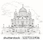 cathedral of christ the saviour ... | Shutterstock .eps vector #1227211936
