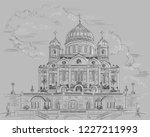 cityscape of cathedral of... | Shutterstock .eps vector #1227211993