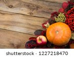 rustic fall background with... | Shutterstock . vector #1227218470