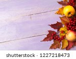 thanksgiving greeting with ripe ... | Shutterstock . vector #1227218473