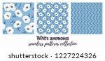 tender white vector anemones... | Shutterstock .eps vector #1227224326