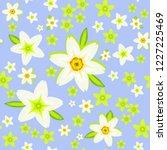 spring vector seamless pattern... | Shutterstock .eps vector #1227225469
