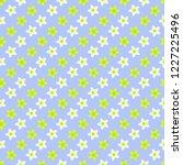 spring vector seamless pattern... | Shutterstock .eps vector #1227225496