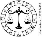 libra. horoscope. zodiac sign....   Shutterstock .eps vector #1227226453
