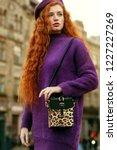 young beautiful fashionable... | Shutterstock . vector #1227227269