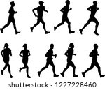 runners silhouettes collection  ... | Shutterstock .eps vector #1227228460