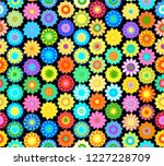 seamless colorful vector floral ... | Shutterstock .eps vector #1227228709