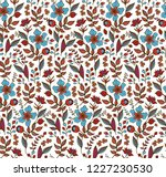 seamless vector floral pattern... | Shutterstock .eps vector #1227230530