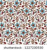 seamless vector floral pattern... | Shutterstock .eps vector #1227230530
