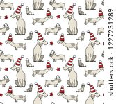 seamless vector pattern with... | Shutterstock .eps vector #1227231289