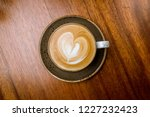 cappuccino coffee with heart... | Shutterstock . vector #1227232423