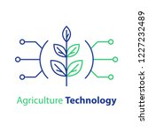 agriculture technology  smart... | Shutterstock .eps vector #1227232489