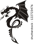 tribal tattoo dragon | Shutterstock .eps vector #122723476