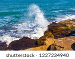 waves of the atlantic ocean... | Shutterstock . vector #1227234940