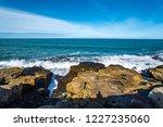 waves of the atlantic ocean... | Shutterstock . vector #1227235060