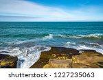 waves of the atlantic ocean... | Shutterstock . vector #1227235063