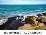 waves of the atlantic ocean... | Shutterstock . vector #1227235069
