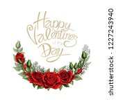 happy valentines day romantic... | Shutterstock .eps vector #1227243940