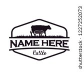 cattle logo design inspiration | Shutterstock .eps vector #1227252073