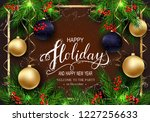 holidays greeting card for... | Shutterstock .eps vector #1227256633