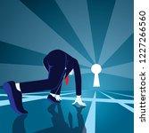 businessman get ready on... | Shutterstock .eps vector #1227266560