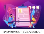 employer meeting job applicant...   Shutterstock .eps vector #1227280873