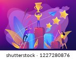 businessman holds a cup on top... | Shutterstock .eps vector #1227280876