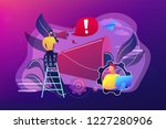 businessman talk in megaphone... | Shutterstock .eps vector #1227280906