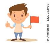 cute elementary school boy or... | Shutterstock .eps vector #1227283993